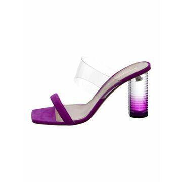 Suede Slides Purple
