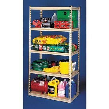 Tennsco Stur-D-Stor Shelving, Five-Shelf, 48w x 24d x 84h, Sand
