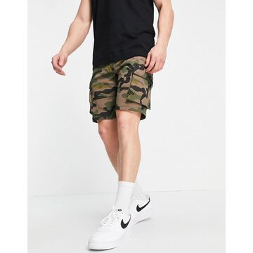 Only & Sons cargo shorts in camo-Green