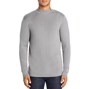 Karl Lagerfeld Paris Shoulder-Zip Sweater