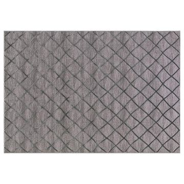 Concord Global Thema Teo Lattice Rug, Grey, 6.5X9 Ft