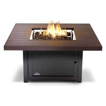 Muskoka Wood Grain Gas Fire Pit Table, Square