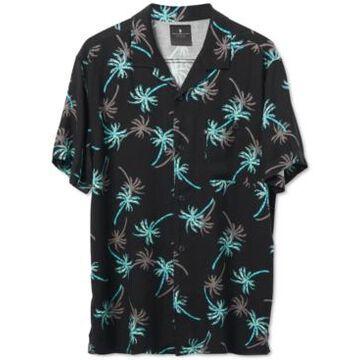 Junk Food Men's Dima Short Sleeve Printed Camp Shirt