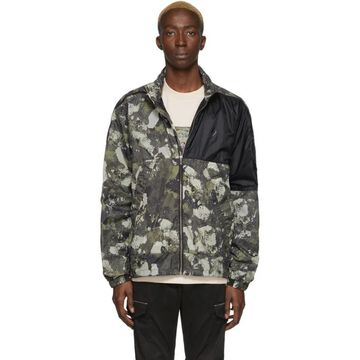 Marcelo Burlon County of Milan Beige and Green Camo Windbreaker Jacket