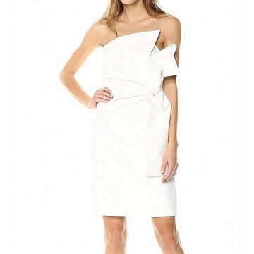 Keepsake Womens Dress White Ivory Size XL Sheath Structured Strapless