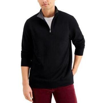 Club Room Men's Stretch Quarter-Zip Fleece Sweatshirt, Created for Macy's