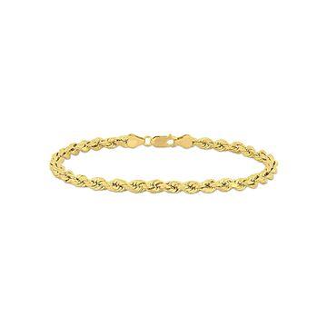 10k Yellow Gold 5mm Rope Chain Men's Bracelet