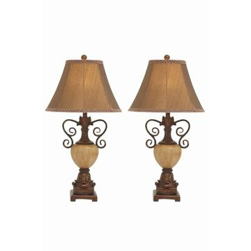 Studio 350 Set of 2, PS Metal Table Lamp 32 inches high