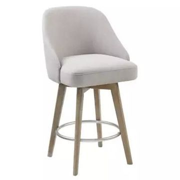 Madison Park Upholstered Stool in Grey