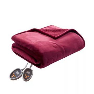 Woolrich Heated Plush to Berber King Blanket in Red