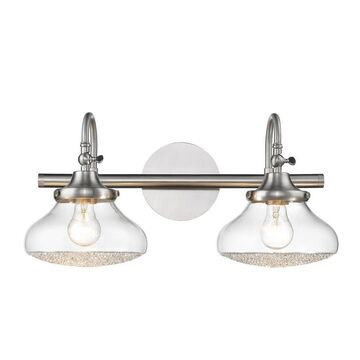 Golden Lighting Asha 2-Light Pewter Glam Vanity Light