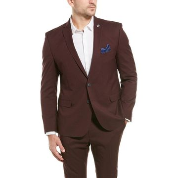 Nick Graham Mens 2Pc The New York Cut Modern Fit Suit With Flat Pant
