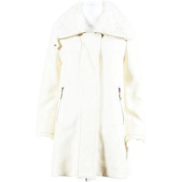 Moncler Ecru Wool Coats