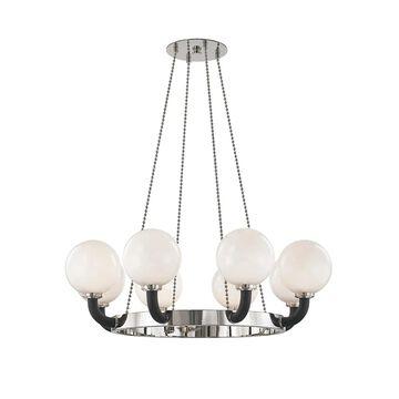 Hudson Valley Werner Pendant Light in Polished Nickel and Black