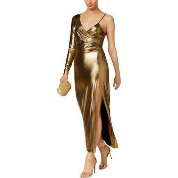 Bardot Womens Aurel Metallic One Shoulder Cocktail Dress