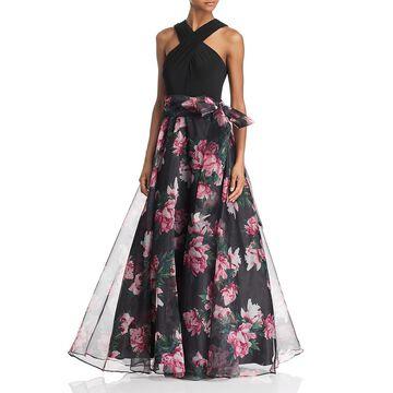 Eliza J Womens Formal Halter Evening Dress