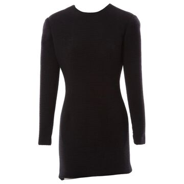 Paco Rabanne Black Wool Dresses