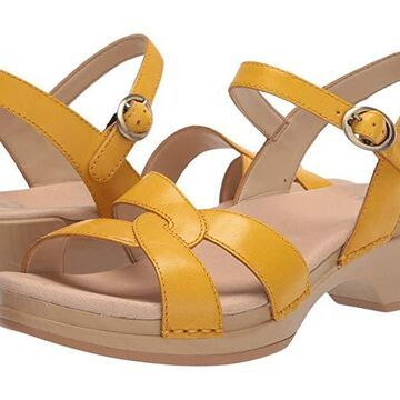 Dansko Karmen (Yellow Burnished Calf) Women's Shoes