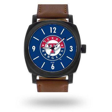 Sparo Texas Rangers Brown Personalized Strap Watch