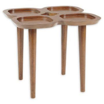INK+IVY Oden End Table in Pecan