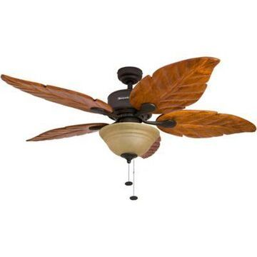 Honeywell Sabal Palm 52-Inch Ceiling Fan with Light in Bronze