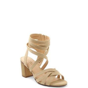 XOXO Women's Eden Strappy Block Heel Sandals
