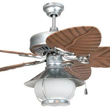 "Craftmade 54"" Outdoor Patio Ceiling Fan Kit in Galvanized Steel"
