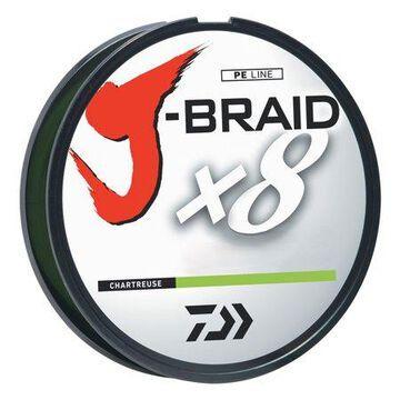 Daiwa J-Braid 3000 Meter Bulk Spool, Chartreuse