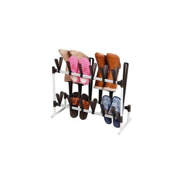 Home Basics 24 Pair Shoe and 3 Pair Boot Organizer