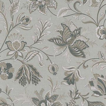 Brewster Jacobean Silver Hollie Wallpaper
