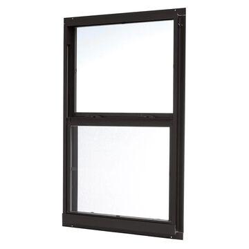 ReliaBilt 46000 Series 31.5-in x 51.5-in x 2.6-in Jamb Aluminum New Construction Black Single Hung Window | ASHB3252RB