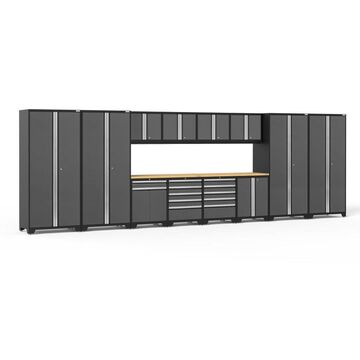 NewAge Products Pro Series 256-in W x 85.25-in H Charcoal Gray Steel Garage Storage System