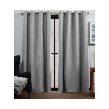 "Exclusive Home Curtains Bensen Blackout Grommet Top Curtain Panel Pair, 52"" x 96"", Set of 2"
