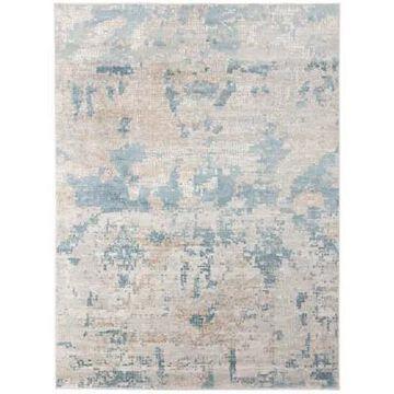 "Amer Rugs Hamadi Tatiana Abstract 7'6"" X 9'6"" Area Rug In Light Blue"