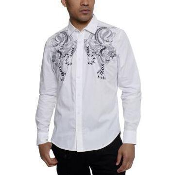 Sean John Men's Embroidered Tiger Shirt