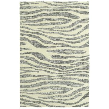 Kaleen Stesso 5 x 8 Wool Ivory Indoor Geometric Mid-century Modern Area Rug Cotton in Off-White   SSO03-01-579