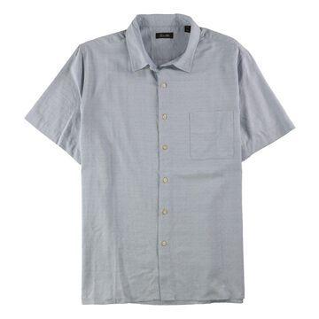 Tasso Elba Mens Textured Button Up Shirt