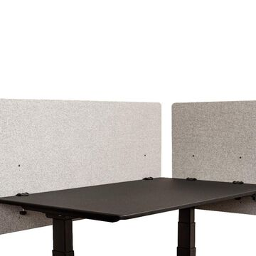 Offex Classroom, Library, Office Desk Mounted Partition Divider 2 Piece Desktop Privacy Panel, Misty Gray - 48