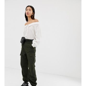 Weekday cargo pants in khaki green
