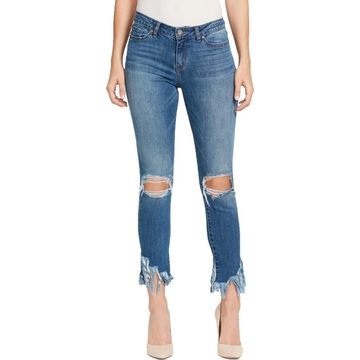 William Rast Womens Perfect Skinny Jeans Destroyed Ankle