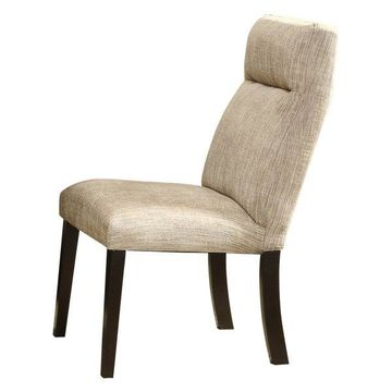 Homelegance Avery Chenille Fabric Side Chair in Espresso