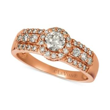 Le Vian Diamond Halo Ring (3/4 ct. t.w.) in 14k Rose Gold
