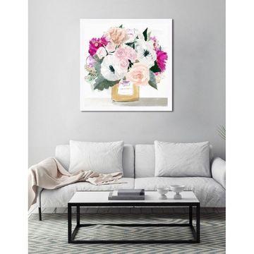 Oliver Gal 'Colorful Flowers Light' Framed Art