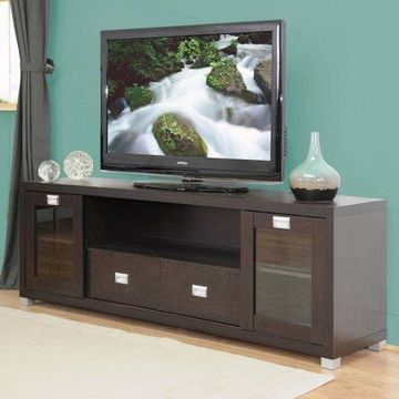 Wholesale Interiors Gosford Dark Brown Wood Modern TV Stand for TVs up to 69