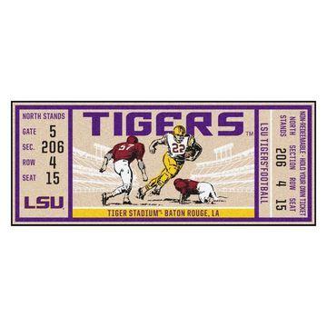 FANMATS LSU Tigers NCAA Ticket Runner 2 x 6 Purple Indoor Sports Runner