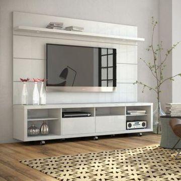Manhattan Comfort Cabrini TV Stand in White