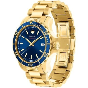 Movado Men's 'Series 800' Gold Tone Stainless Steel Watch