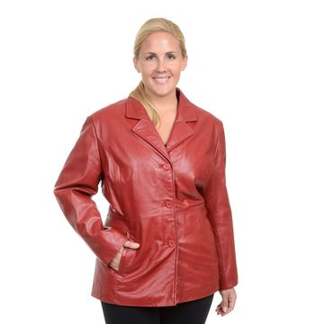 Plus Size Excelled Leather Jacket
