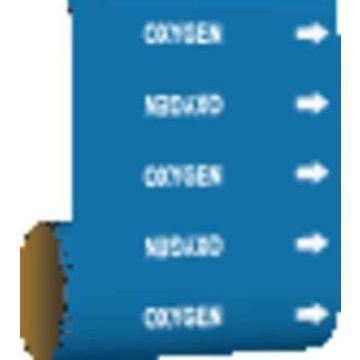 BRADY 15587 Pipe Marker,Oxygen,Blue