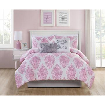 5pc Love the Little Things Comforter Set Pink - VCNY